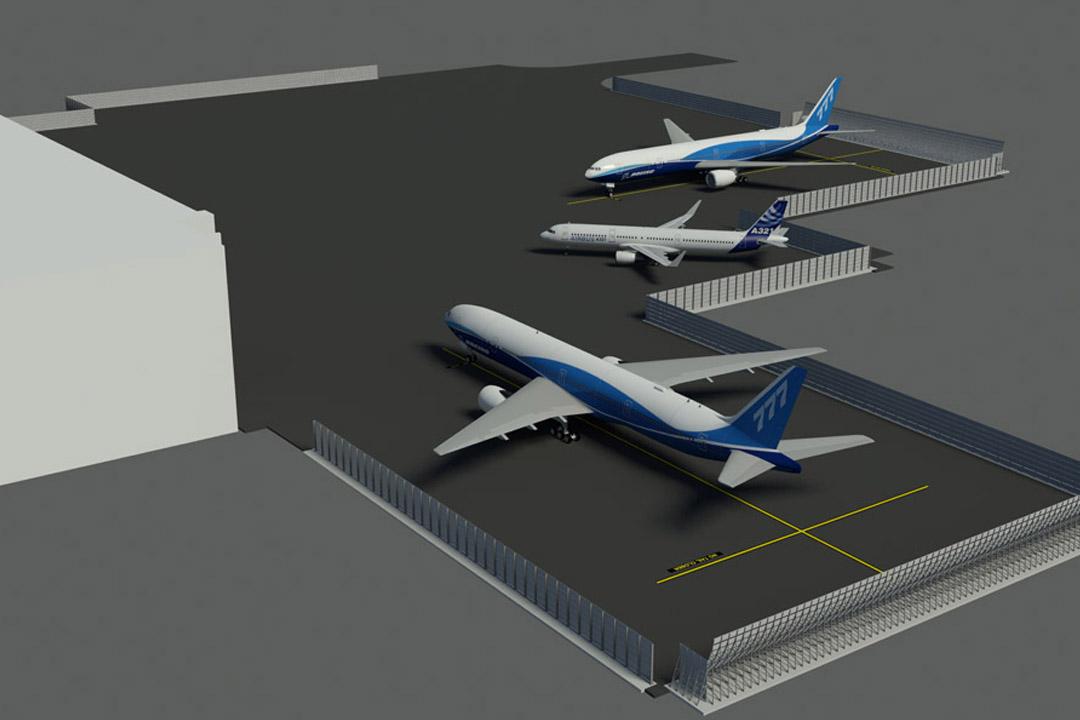 United Hangar Jet Blast Screen