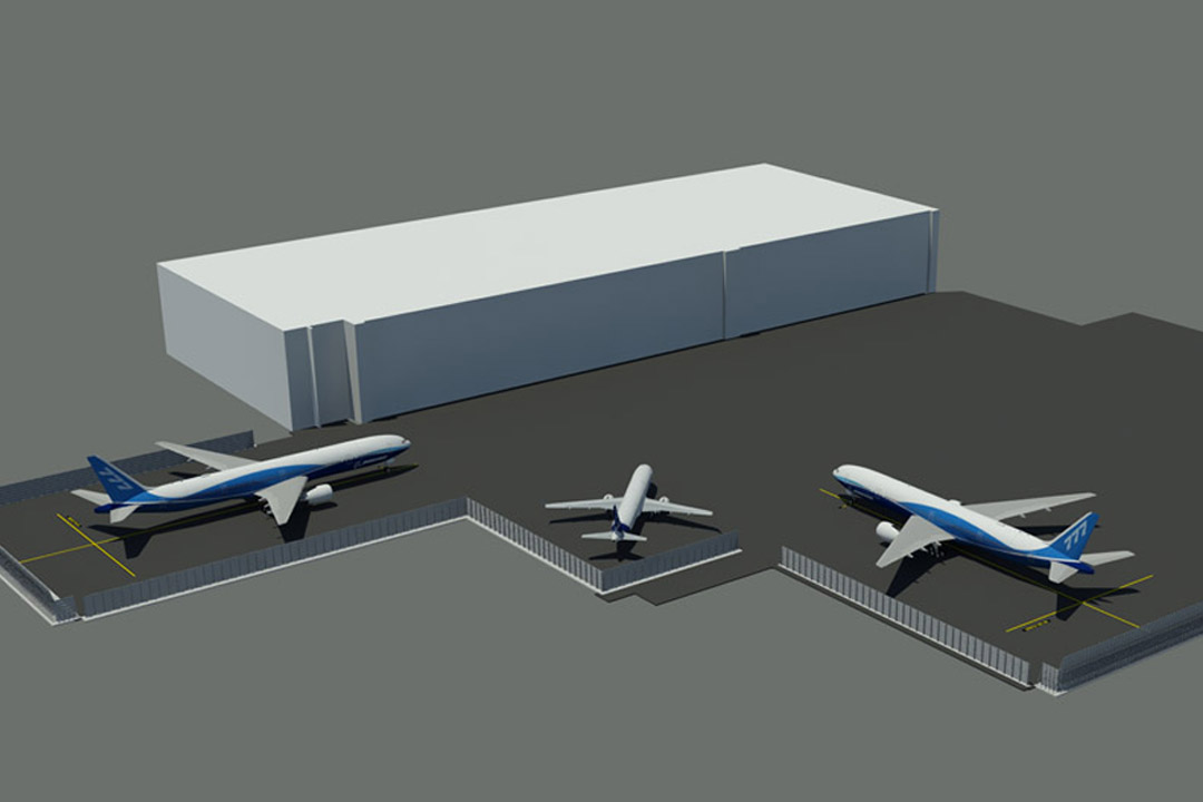 United Hangar Jet Blast Wall