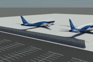 O'Hare Parking Lot Jet Blast Deflector