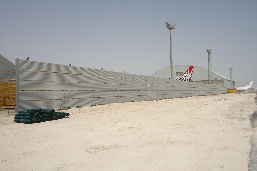 Abu Dhabi Vertical Jet Blast Fence