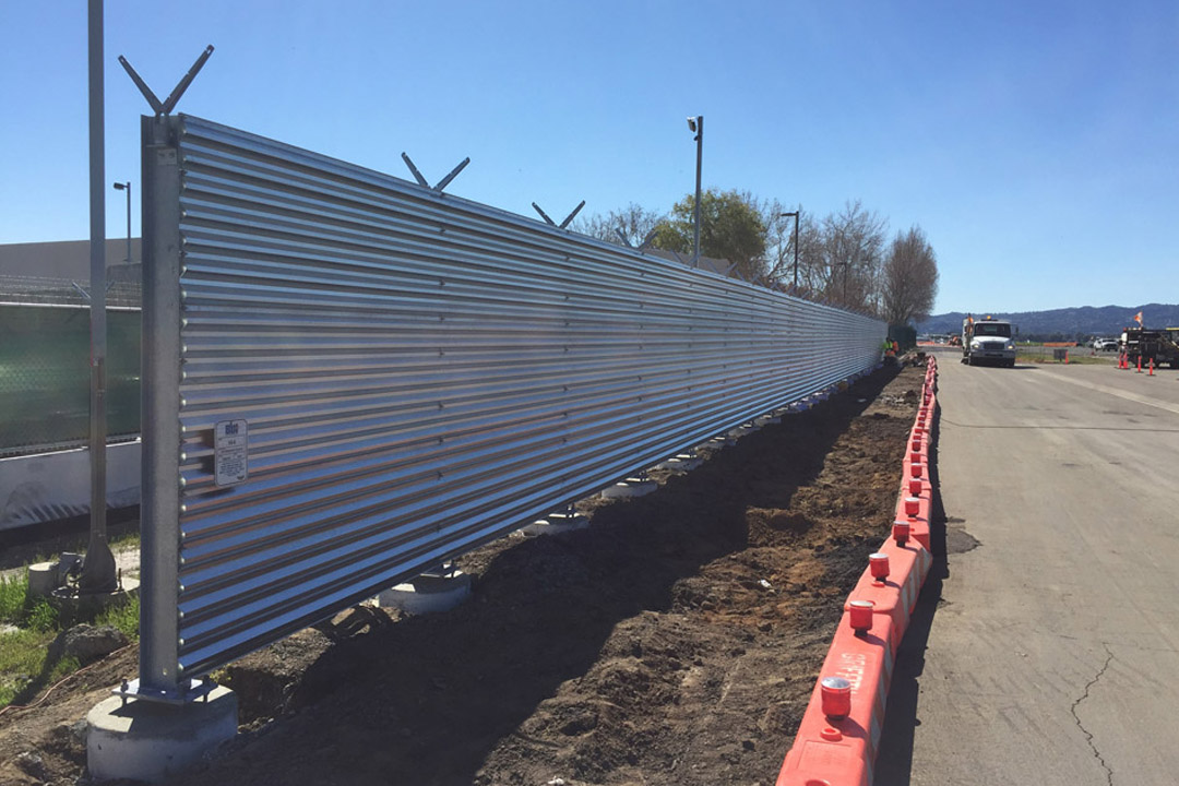 Van Nuys Vertical Jet Blast Fence