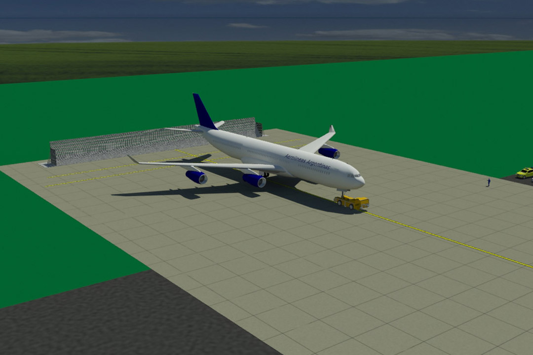Aerolineas Jet Blast Wall