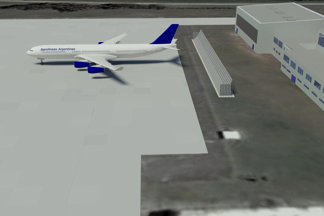 Aerolineas Jet Blast Barrier