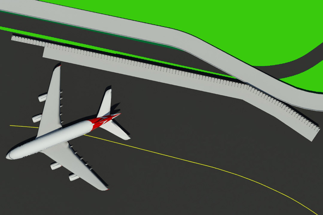 JFK Vertical Jet Blast Wall