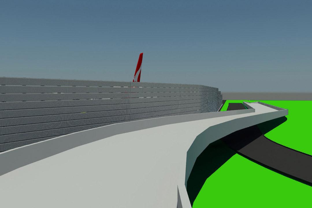 JFK Vertical Jet Blast Barrier