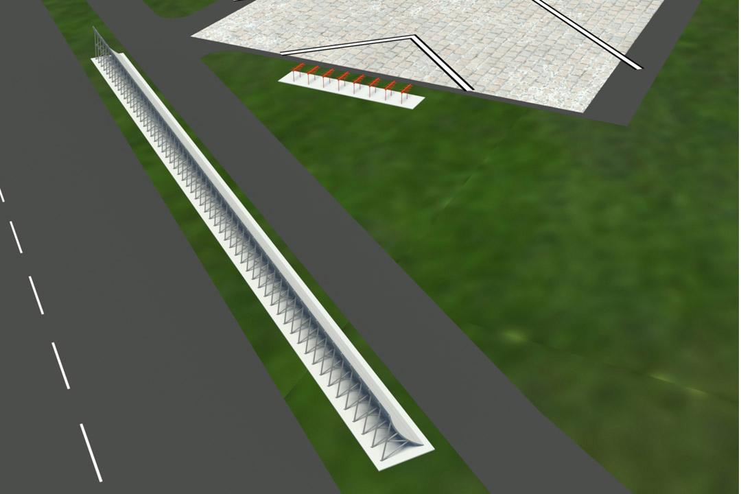 TF Green Fiberglass Jet Blast Wall