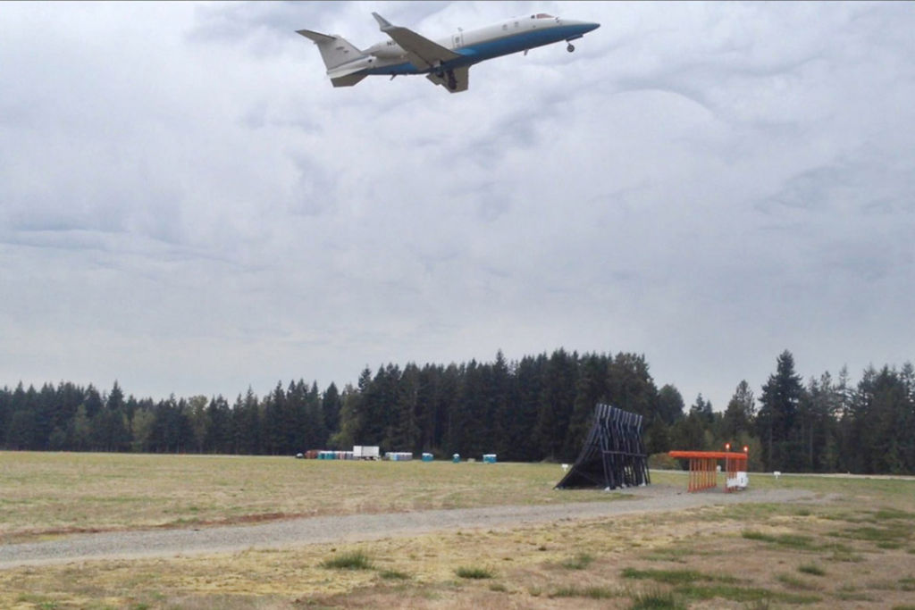 Arlington Fiberglass Jet Blast Barrier Test