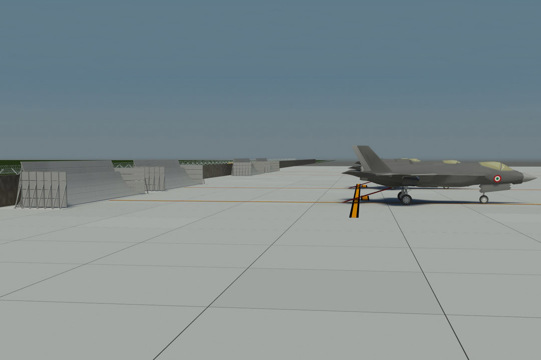 Cameri LMA Jet Blast Wall