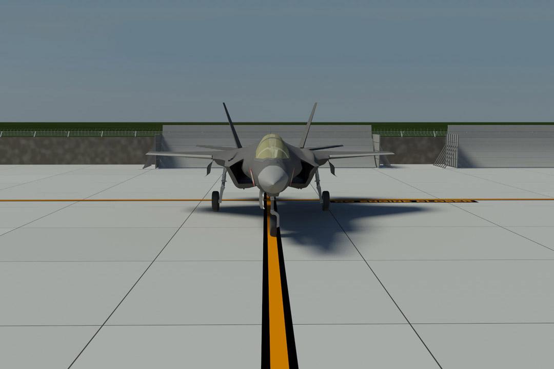 Cameri LMA Jet Blast Fence