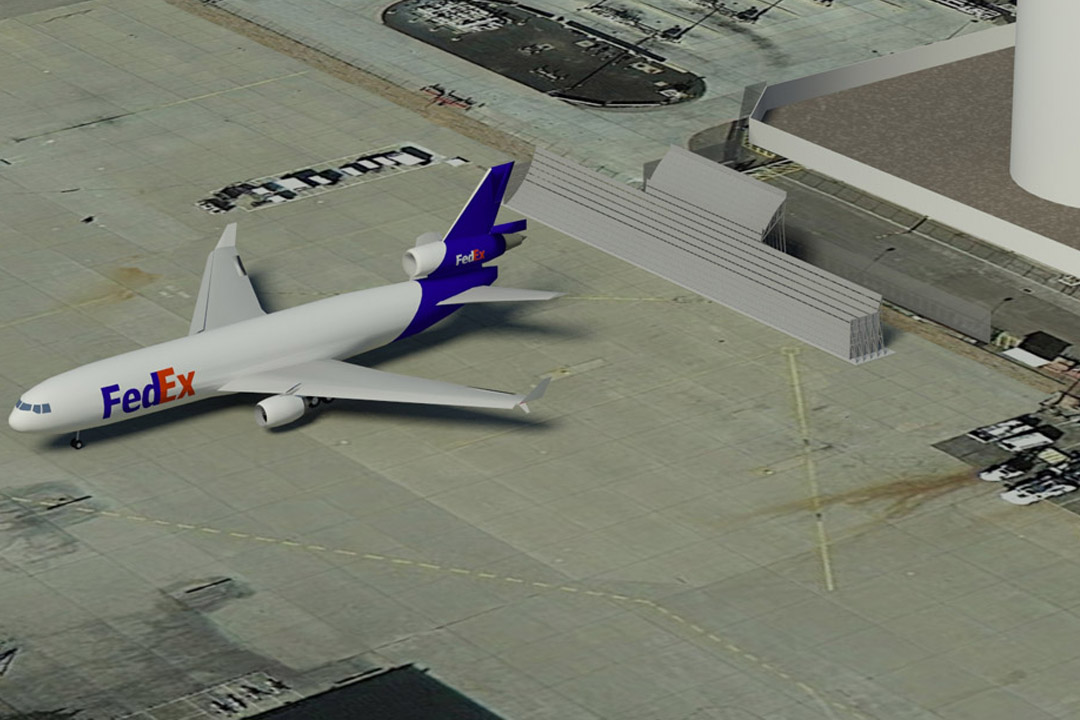 FedEx Run-up Jet Blast Screen