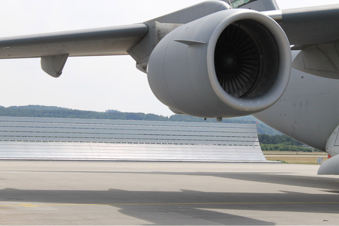 Ramstein Air Base C-17 Jet Blast Deflector