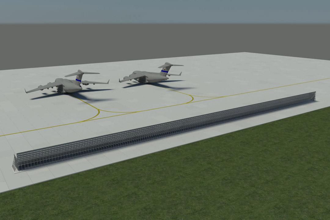 Ramstein Air Base C-17 Jet Blast Fence