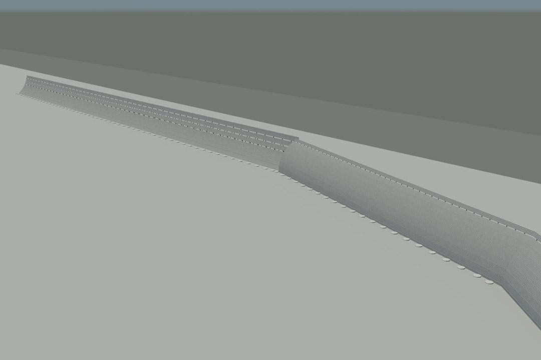 SAN Jet Blast Wall