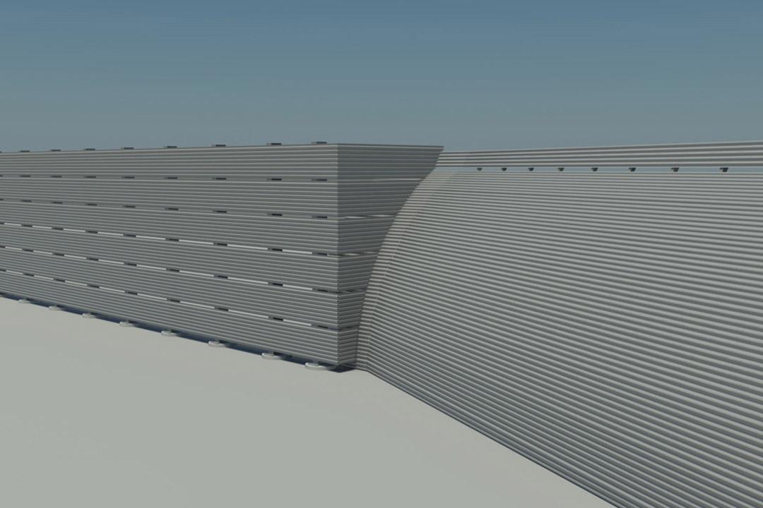 SAN Jet Blast Fence