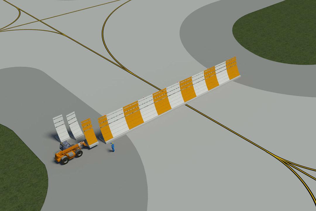 LAX Portable Jet Blast Fence