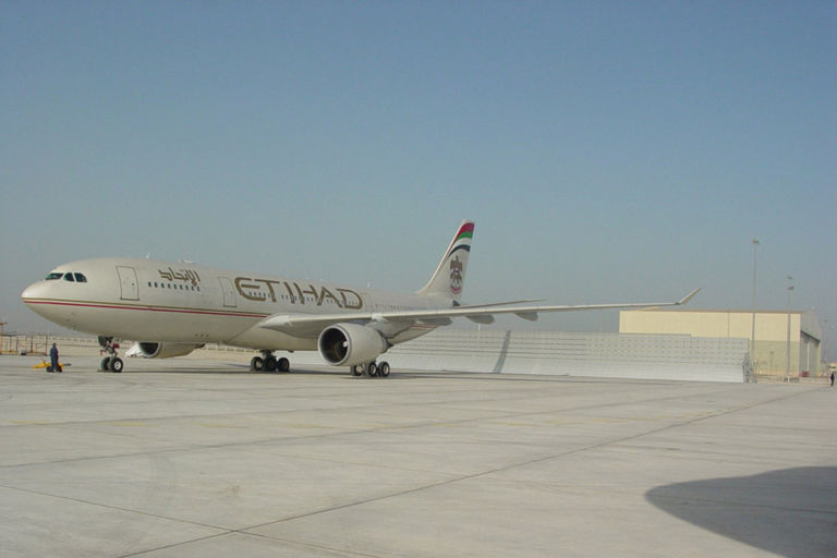 Etihad Jet Blast Barrier