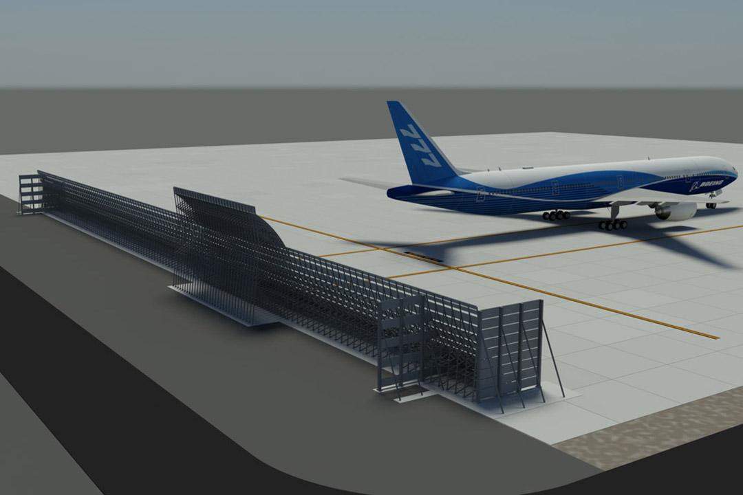 Etihad Jet Blast Fence