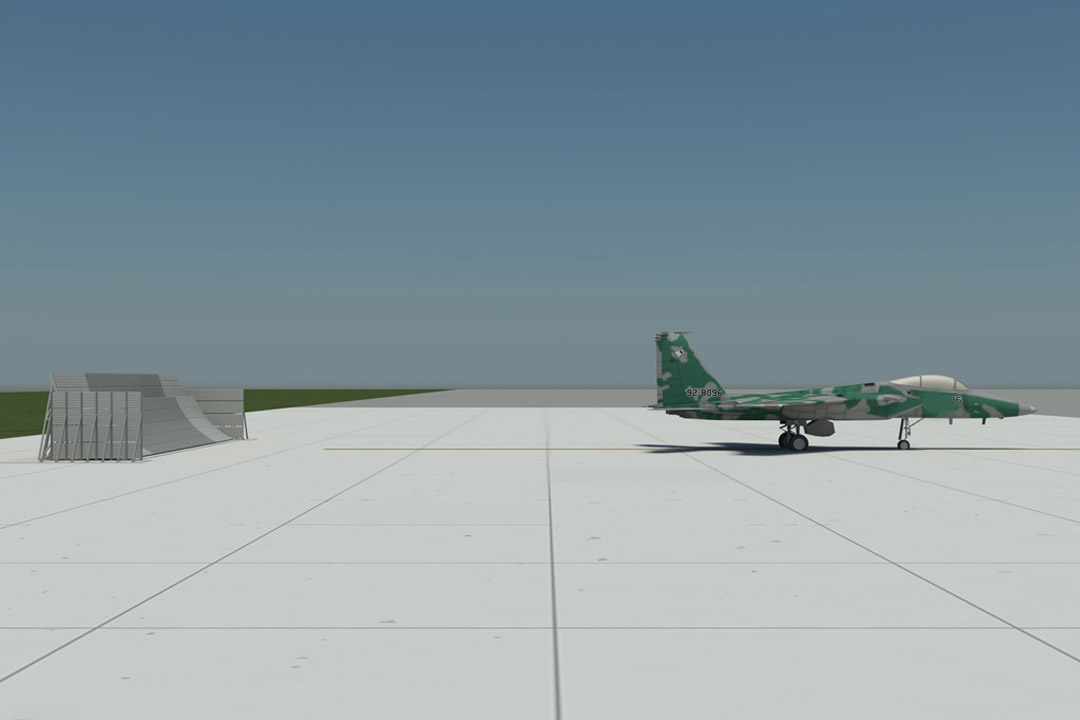 Davis Monthan AFB GS12 Jet Blast Wall