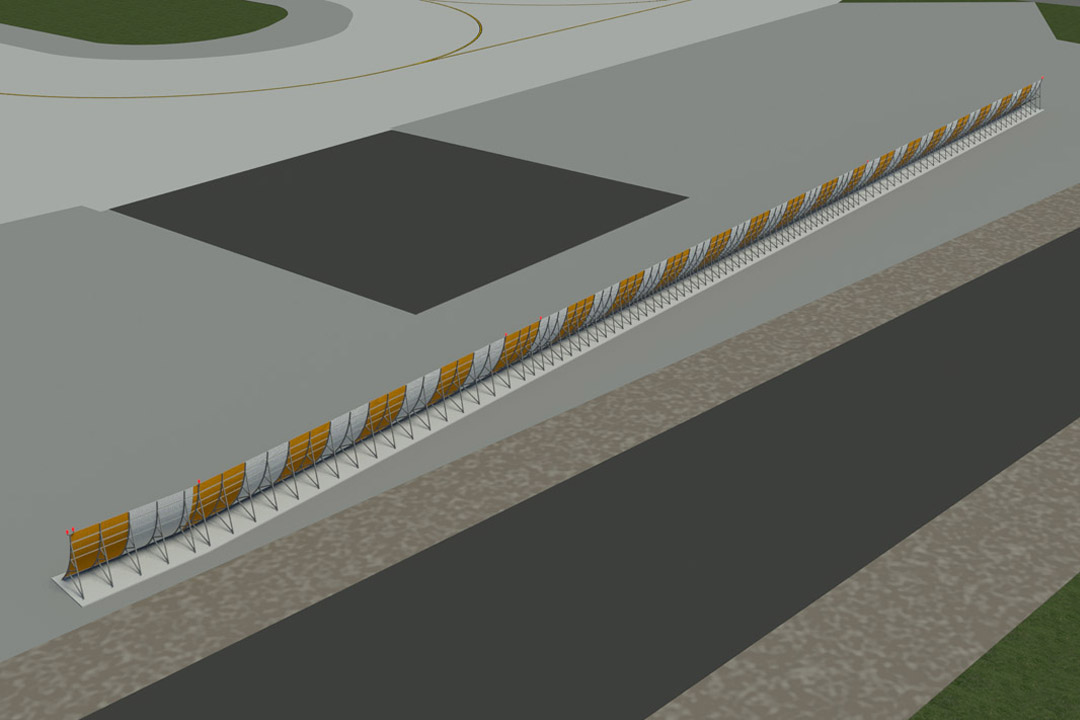 LAX Temporary Jet Blast Barrier