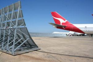 Qantas Jet Blast Fence