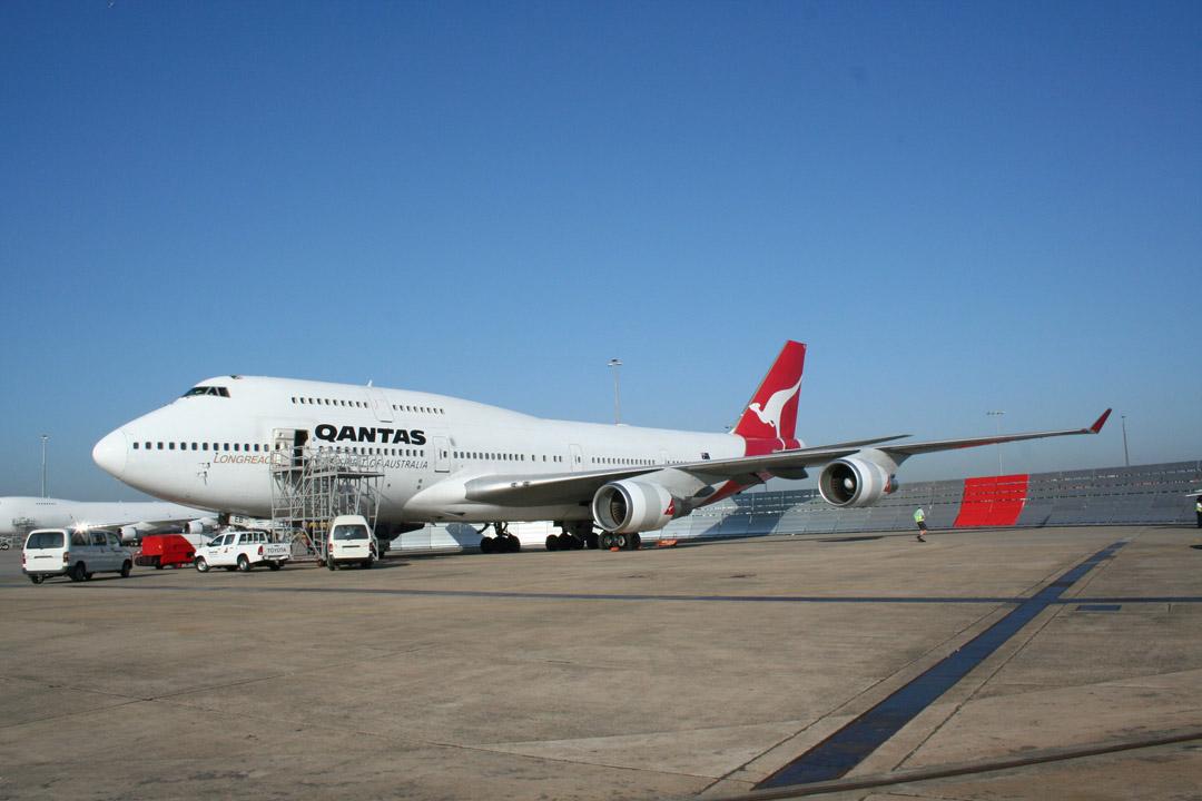 Qantas Jet Blast Barrier