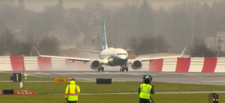 B737 Max First Flight Jet Blast Wall