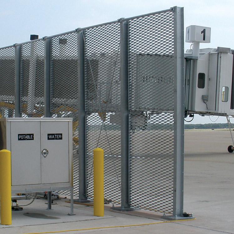 Expanded Metal Jet Blast Barrier